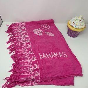 Bahamas Pink and White Sarong